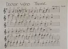 the flute sheet music for the 2010 2013 opening theme of doctor who i did not write this all
