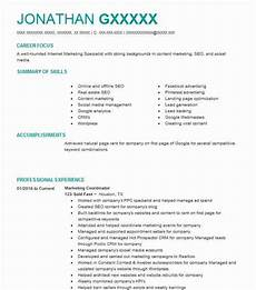 marketing coordinator objectives resume objective livecareer