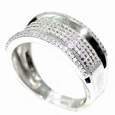 rings midwestjewellery com mens diamond wedding band ring 10k white gold 45cttw 10mm wide pave