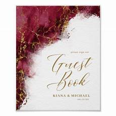 marble glitter wedding guests burgundy gold id644 poster zazzle com glitter wedding gold