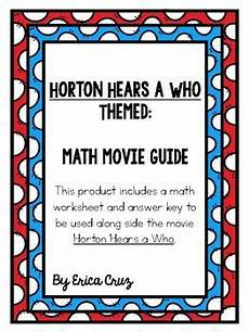 addition worksheets in 8897 horton hears a who themed math guide math horton hears a who guide