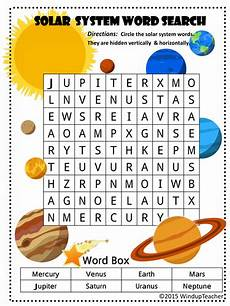 solar system word searches 2 levels of difficulty by