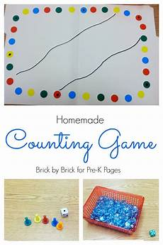 homemade counting game pre k pages