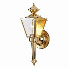 desmet 15 in h polished brass outdoor wall light at lowes com