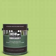 behr premium plus ultra 1 gal 420b 4 tart apple gloss enamel exterior paint 585401 the