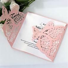 Laser Cut Butterfly Wedding Invitations