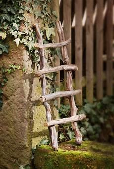 deko leiter aus reben holz shabby pflanzen rank kletter