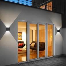 Außenbeleuchtung Haus Led - helestra siri 44 led wandleuchte lichtaustritt