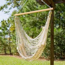 hanging swing pawleys single cotton rope hammock swing