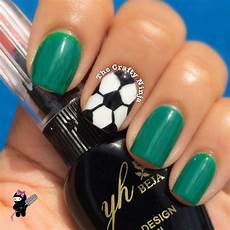 soccer ball nail art the crafty ninja