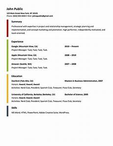 free resume generator template your life in order