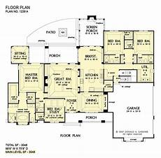 sprawling ranch house plans arts crafts styled sprawling ranch home plan birchwood