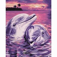 Malvorlagen Delfin Delfine Malen Nach Zahlen Schipper 24 X 30 Cm Tiere