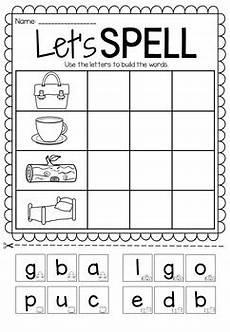 color spelling worksheets 22345 let s spell spelling printable worksheet pack vowels cvc