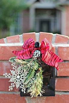 Decorations For Mailbox by Mailbox Decorations Burlap And Greenery