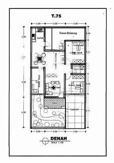 Denah Rumah Satu Lantai Ukuran 8x15 M