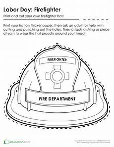 firefighter hat coloring page education com