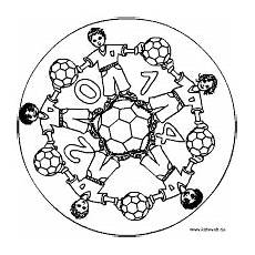 Malvorlage Mandala Fussball Fu 223 Mandala Mandala