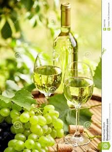 verre vin blanc vin blanc avec le verre 224 vin et les raisins sur la terrasse de jardin photo stock image du