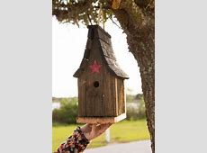 Amish Rustic Tall Wren Bird House from DutchCrafters Amish
