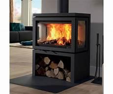 poele à bois contemporain fonte flamme vidar po 234 le 224 bois contemporain
