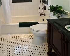 Bathroom Ideas Black And White Floor by 36 Black And White Vinyl Bathroom Floor Tiles Ideas And