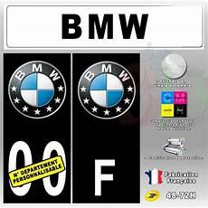 Stickers Plaque D Immatriculation Bmw Auto Moto Fond