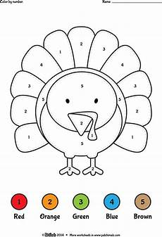 color by number coloring pages 18053 thanksgiving