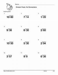 easy division worksheets no remainders 6291 basic division fact worksheets