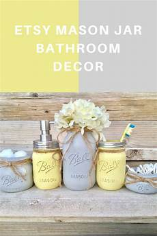 etsy yellow and grey bathroom decor yellow and gray