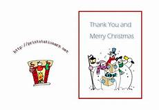 free christmas thank you cards free printable holiday thank you notes