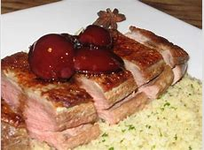spiced balsamic duck with plums and couscous_image