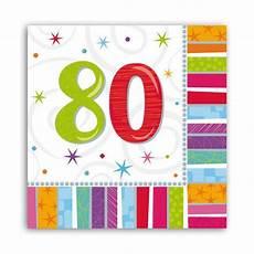 servietten 80 geburtstag servietten 80 quot strahlender geburtstag quot 16er pack g 252 nstig