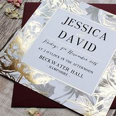 Foiled Wedding Invitations gilded flowers gold foil wedding invitation by vanilla