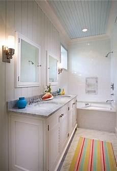 bathroom bathroom ideas coastal bathroom with painted blue ceiling and beadboard walls