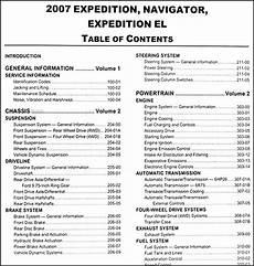 online car repair manuals free 2007 ford expedition el parking system 2007 expedition navigator repair shop manual 2 volume set original