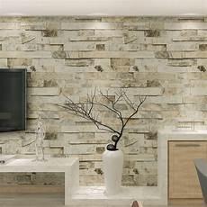 10m slate brick patterned 3d effect vinyl wallpaper