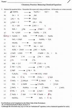 chemical equation problems world of reference