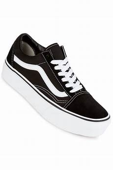 vans skool platform shoes black white buy at