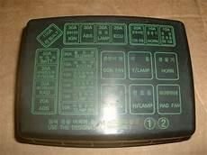 hyundai accent 1995 fuse box hyundai accent coupe 95 99 1 3l bonnet fuse box lid 91212 22002 ebay