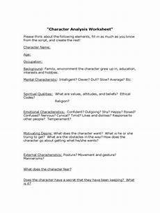 character analysis template 2 free templates in pdf word excel download