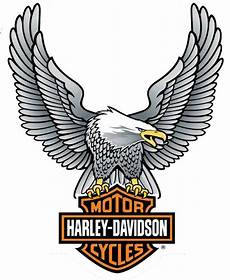 harley davidson up wing eagle decal silver lg size sticker