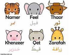 arabic animals worksheets 19777 arabic animals arabic ox tiger arabic way cat elephant giraffe pig arabicway tumb learning
