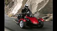 motorrad 3 räder motorrad mit drei r 228 dern der brp can am spyder roadster