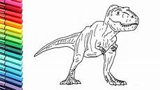 jurassic world dinosaurs coloring pages 16737 how to draw the t rex from jurassic world fallen kingdom dinosaur color pages for children