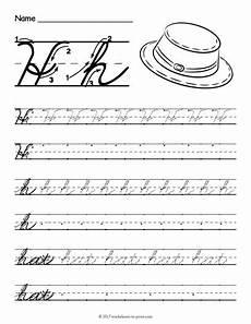 letter d cursive handwriting worksheets 24199 free printable cursive h worksheet cursive handwriting worksheets cursive writing worksheets