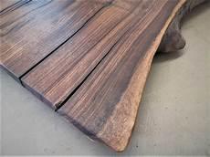 nussbaum tischplatte mit baumkante massivholz m 246 bel