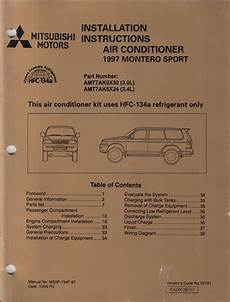 automotive air conditioning repair 2001 mitsubishi montero sport auto manual 1997 mitsubishi montero sport air conditioner installation instruction manual original