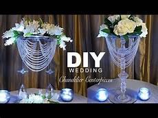 diy wedding chandelier centerpiece youtube