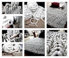 dicke wolle strickteppich textilgarn